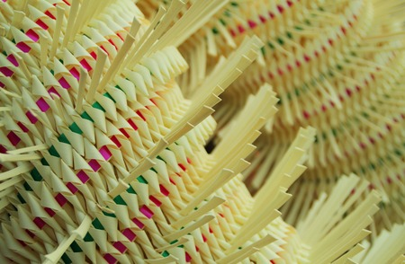tinkered: Balinese decoration for ceremony in a close up Stock Photo