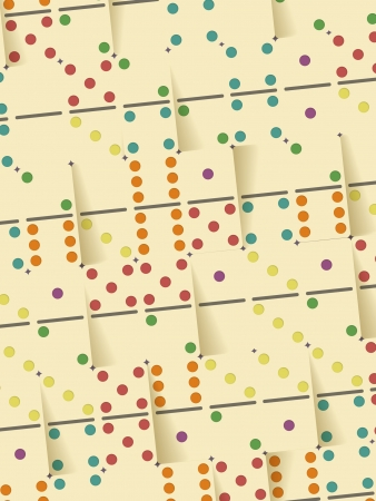 Color Dominoes Background Pattern