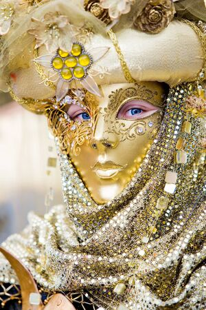 A man in costume at the Venice Carnival (6)