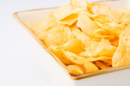 gease: Chips in a square bowl