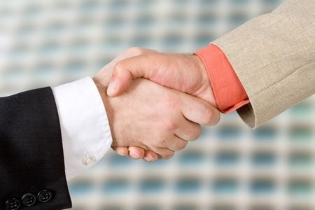 Two men shaking hands (2) Standard-Bild