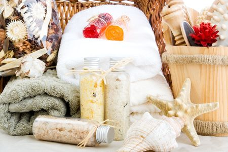 customs and celebrations: Bath salts, soap, towels and potpourri