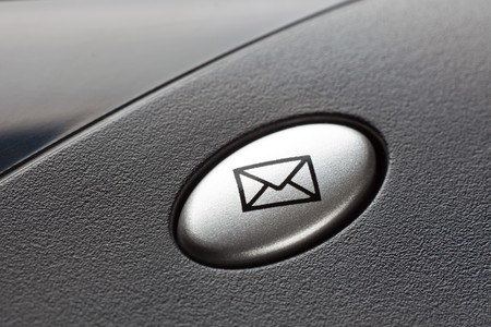 Envelope button on a black keyboard