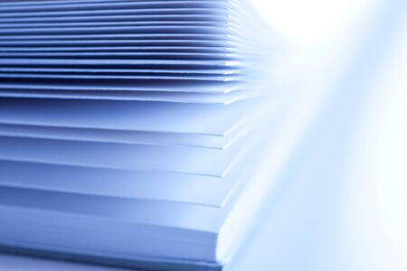 Pages of a book with blue tone