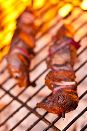 BBQ grill kebabs Imagens
