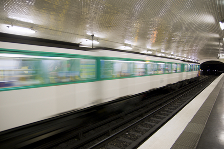 Subway in Paris, France Stock Photo