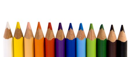 drow: Color pencils isolated on white