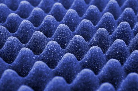 Blue acoustic foam Stock Photo