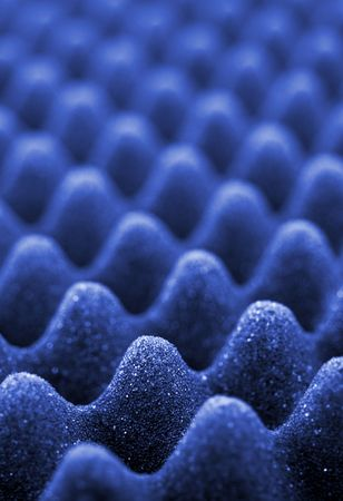 sound proof: Blue acoustic foam close-up, shallow depth of field