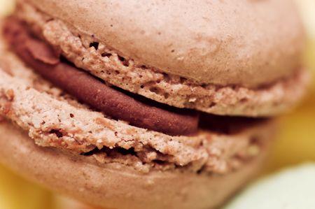 Closeup shot of small french cake Stock Photo