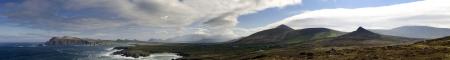 Large panoramic image of the Irish atlantic coast near Dingle Stock Photo