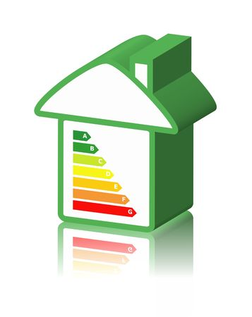 house with energy classification Stock Photo - 3551554