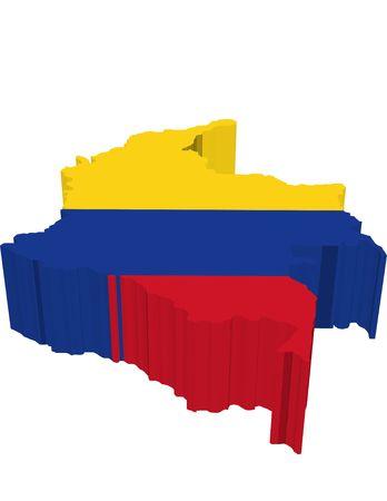 flag of colombia: columbia  Foto de archivo