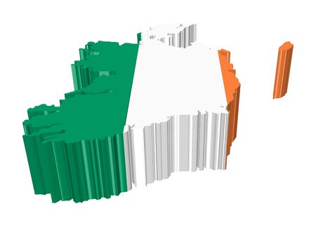 eire: map and flag of eire