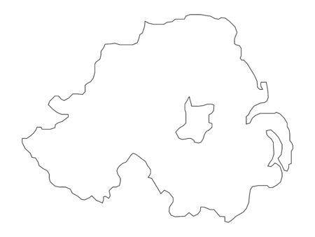 map of north ireland photo