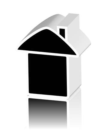 home owner: black logo of house Stock Photo