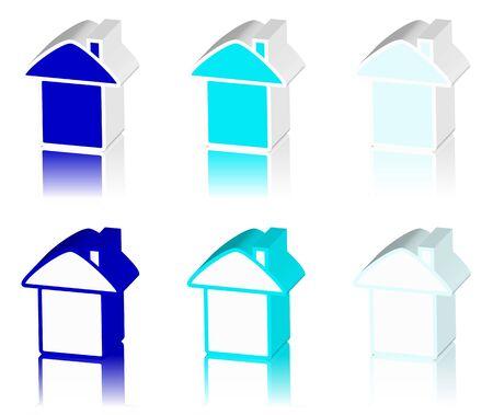 tenancy: blue logo of house