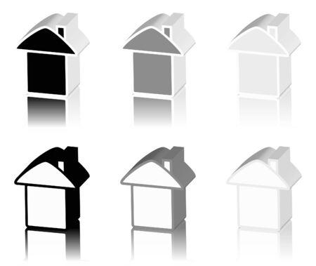 tenancy: black logo of house Stock Photo