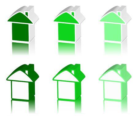 tenancy: green logo of house