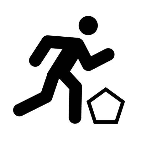 el logotipo de pentatl�n moderno  Foto de archivo - 3605744