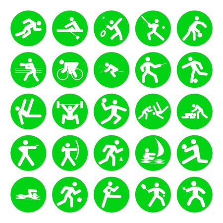 logos of sports, olympic games, on white background photo