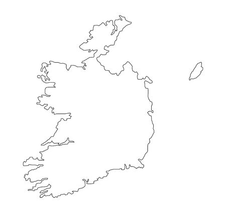 eire: map of eire Stock Photo