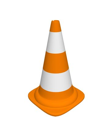 conical: conical landmark for warning on road