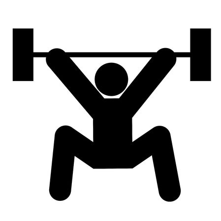 logo of weightlifting, black silhouette of a man photo