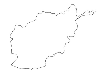 map of afghanistan on white background