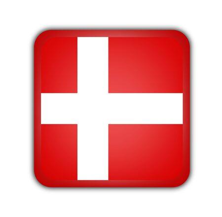 picto: flag of denmark,square button on white background