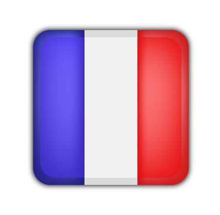 picto: flag of france, square button on white background