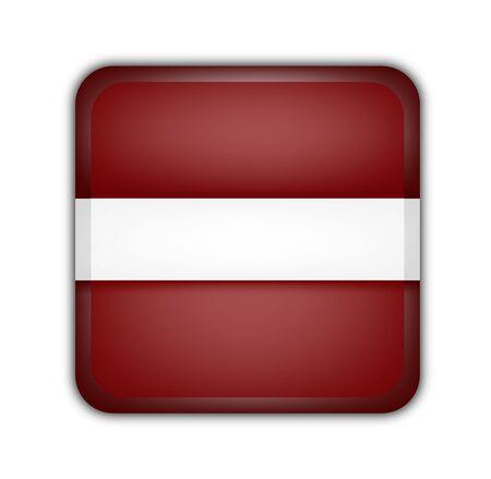 picto: flag of latvia, square button on white background