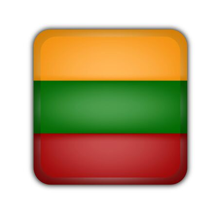 picto: flag of lithuania, square button on white background