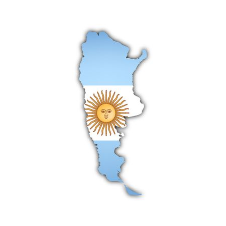 vector map of argentina with flag photo