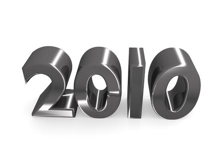 3d rendered of chrome 2010 for the new year photo