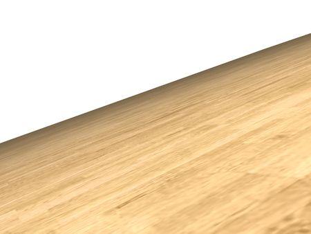 mixflooring: wooden floor on white background Stock Photo