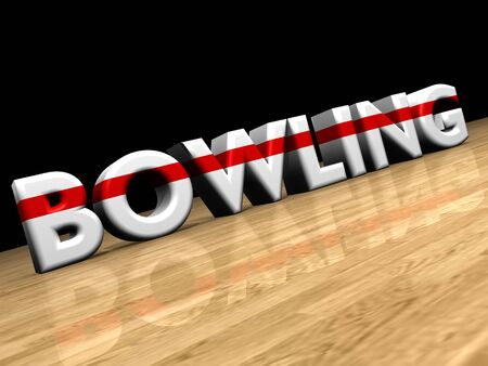 lanes: bowling on wooden parquet Stock Photo