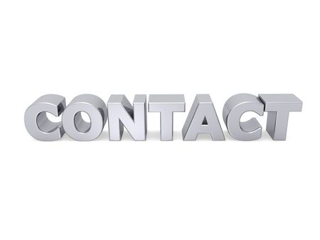 contact word with metal letters photo