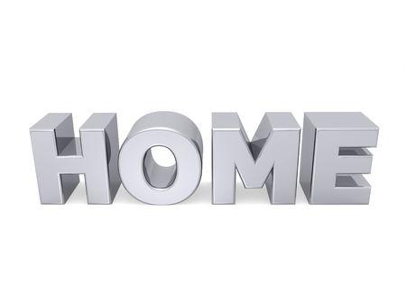 parola a casa con le lettere in metallo Archivio Fotografico - 5963454