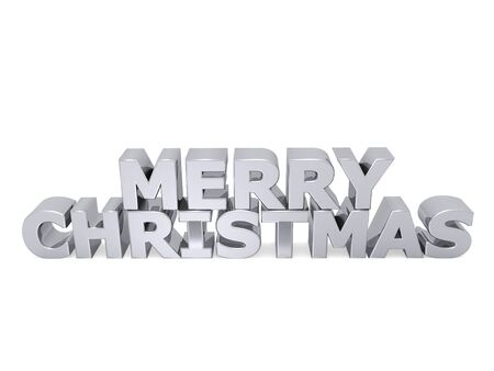 merry christmas word with metal letters photo