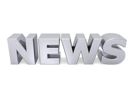 telegrama: palabra de noticias con letras de metal