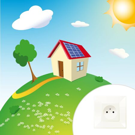solar panel and house photo