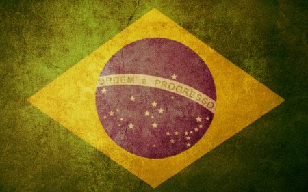 brazil flag: brazil flag with old texture grunge and vintage