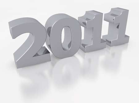 rendered of 2011 for the new year photo