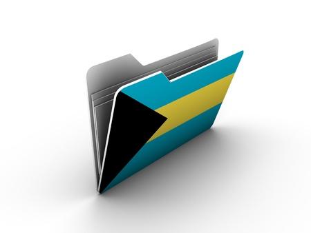 bandera de honduras: icono de carpeta con bandera de bahamas en fondo blanco Foto de archivo