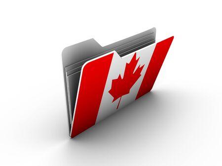 bandera de honduras: icono de la carpeta con la bandera de Canad� sobre fondo blanco