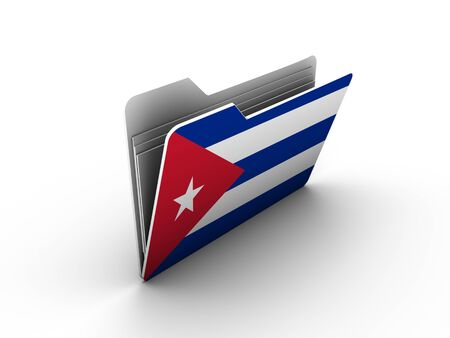 grading: folder icon with flag of cuba on white background