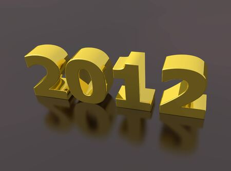 rendered of 2012 for the new year photo