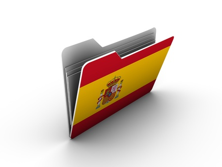 folder icon with flag of spain on white background photo