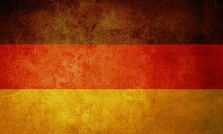 bandera de alemania: Bandera de Alemania con el grunge textura antigua y vintage